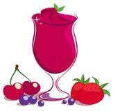 Smoothie ягод Стоковые Изображения RF