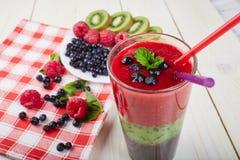 Smoothie ягоды лето коктеила свежее Стоковая Фотография