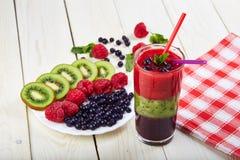 Smoothie ягоды лето коктеила свежее Стоковая Фотография RF
