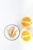 Smoothie anaranjado con canela Imagen de archivo libre de regalías