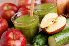 Smoothie apple and zucchini Royalty Free Stock Image