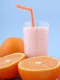 Smoothie arancione fotografie stock