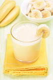 Smoothie with bananas Royalty Free Stock Images