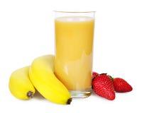 smoothie bananowa truskawka obrazy stock
