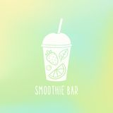 Smoothie bar. Cup to go with fruits. Vector hand drawn illustration Royalty Free Stock Photos