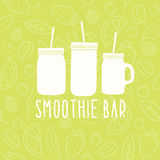 Smoothie bar logo. 3 different mason jars. Vector illustration Stock Photography