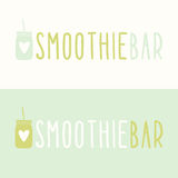 Smoothie bar logotypes Royalty Free Stock Image