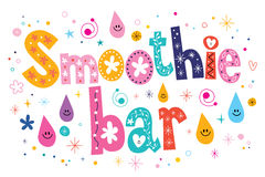 Smoothie bar text lettering decorative type Royalty Free Stock Photography