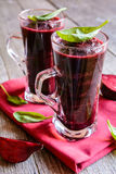 Smoothie with beetroot, spinach and lemon Royalty Free Stock Photography