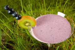 Smoothie with berries Royalty Free Stock Images