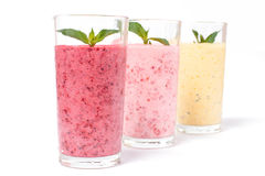 Smoothie with berries, ice and yogurt Stock Photo