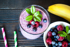 Smoothie with berries Stock Images
