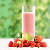 Smoothie of berries on the table Royalty Free Stock Photography