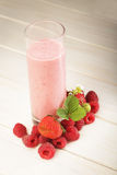 Smoothie of berries on the table Stock Photos