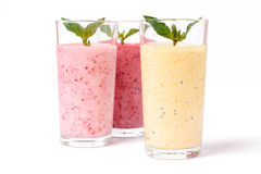 Smoothie with berries and yogurt Stock Image