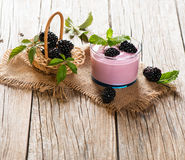 Smoothie of blackberry Stock Images