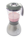 Smoothie in blender made with strawberries Royalty Free Stock Image