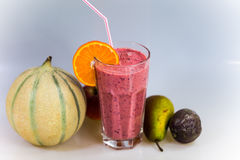 Smoothie  with blueberry and melone Stock Image