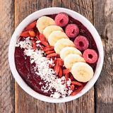 Smoothie bowl, acai bowl stock photography