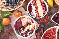 Smoothie bowl, acai bowl Royalty Free Stock Image