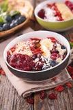 Smoothie bowl, acai bowl Stock Photo