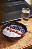 Smoothie bowl with berries Royalty Free Stock Photography
