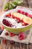 Smoothie bowl with fruit Stock Photos
