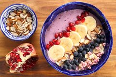 Smoothie bowl. Royalty Free Stock Images