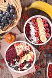Smoothie in bowl Royalty Free Stock Photos