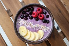 Healthy Smoothie bowl Royalty Free Stock Photo