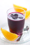 Smoothie com uvas-do-monte Fotos de Stock