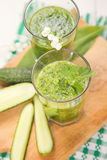 Smoothie with cucumber Royalty Free Stock Photos
