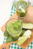 Smoothie with cucumber Royalty Free Stock Image