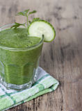 Smoothie of cucumber . Stock Photography