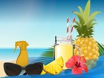 Smoothie d'ananas Illustration de vecteur photo libre de droits