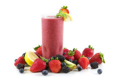 Smoothie da baga Imagem de Stock Royalty Free