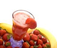 Smoothie da fruta da morango Imagem de Stock