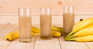 Smoothie de banane Photographie stock libre de droits
