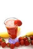 Smoothie de banane de fraise Photographie stock