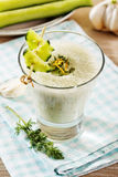 Smoothie de concombre Photographie stock libre de droits