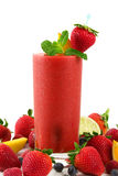 Smoothie de fraise Photos libres de droits