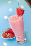 Smoothie de fraise Photo libre de droits