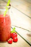 Smoothie de fraise Photos libres de droits