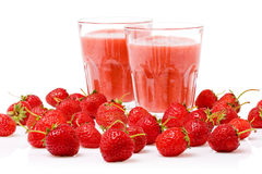 Smoothie de fraise Photographie stock libre de droits