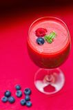 Smoothie de framboise Photos libres de droits