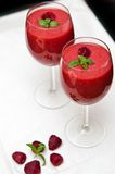 Smoothie de framboise Photographie stock libre de droits