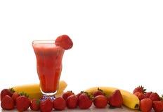 Smoothie de fruit de fraise Photo libre de droits