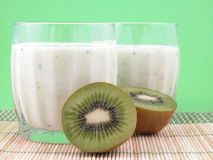 Smoothie de kiwi Images stock