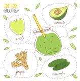 Smoothie de la dieta del Detox Imagenes de archivo