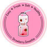 Smoothie de la fresa Imagen de archivo libre de regalías